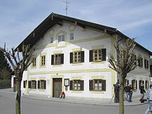 The house where Ratzinger was born, in Marktl, Bavaria, Germany. The building still stands today.