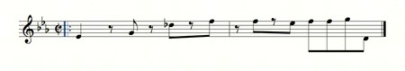 "Guitar part for ""Bring it Up"" by James Brown (1967)"