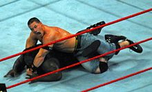 Cena traps Mark Henry in the STF.