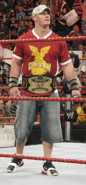 Cena as one half of the World Tag Team Champions