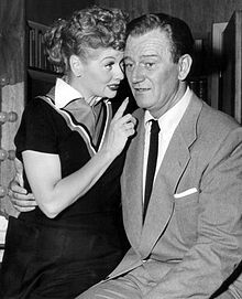 As a special guest star, with Lucille Ball (left) in I Love Lucy, 1955