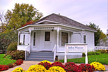 The house in Winterset, Iowa in which Wayne was born in 1907
