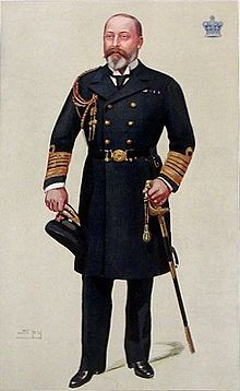 Edward depicted in naval uniform by Vanity Fair magazine, 1902