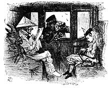 Martin Gardner noted in The Annotated Alice that the person who wears white paper looks like the cartoon of Disraeli which John Tenniel had published in Punch.