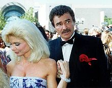 Reynolds and Loni Anderson at the 43rd Emmy Awards, 1991