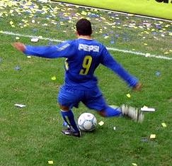 Tévez playing for Boca Juniors