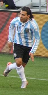 Tévez at the 2010 World Cup.