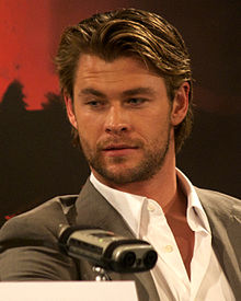 Hemsworth at a press conference for Thor in April 2011