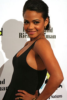 Christina Milian at the Billboard-Children Uniting Nations after-party red carpet.