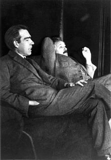 Einstein and Niels Bohr, 1925