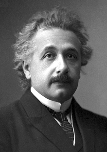 Einstein's official 1921 portrait after receiving the Nobel Prize in Physics.