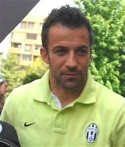 Del Piero before a match in April 2012.